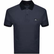 CP Company Short Sleeved Polo T Shirt Navy